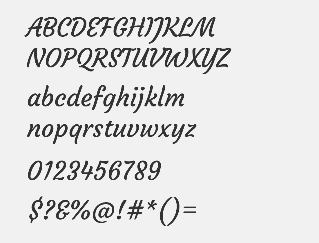 108 Courgette font