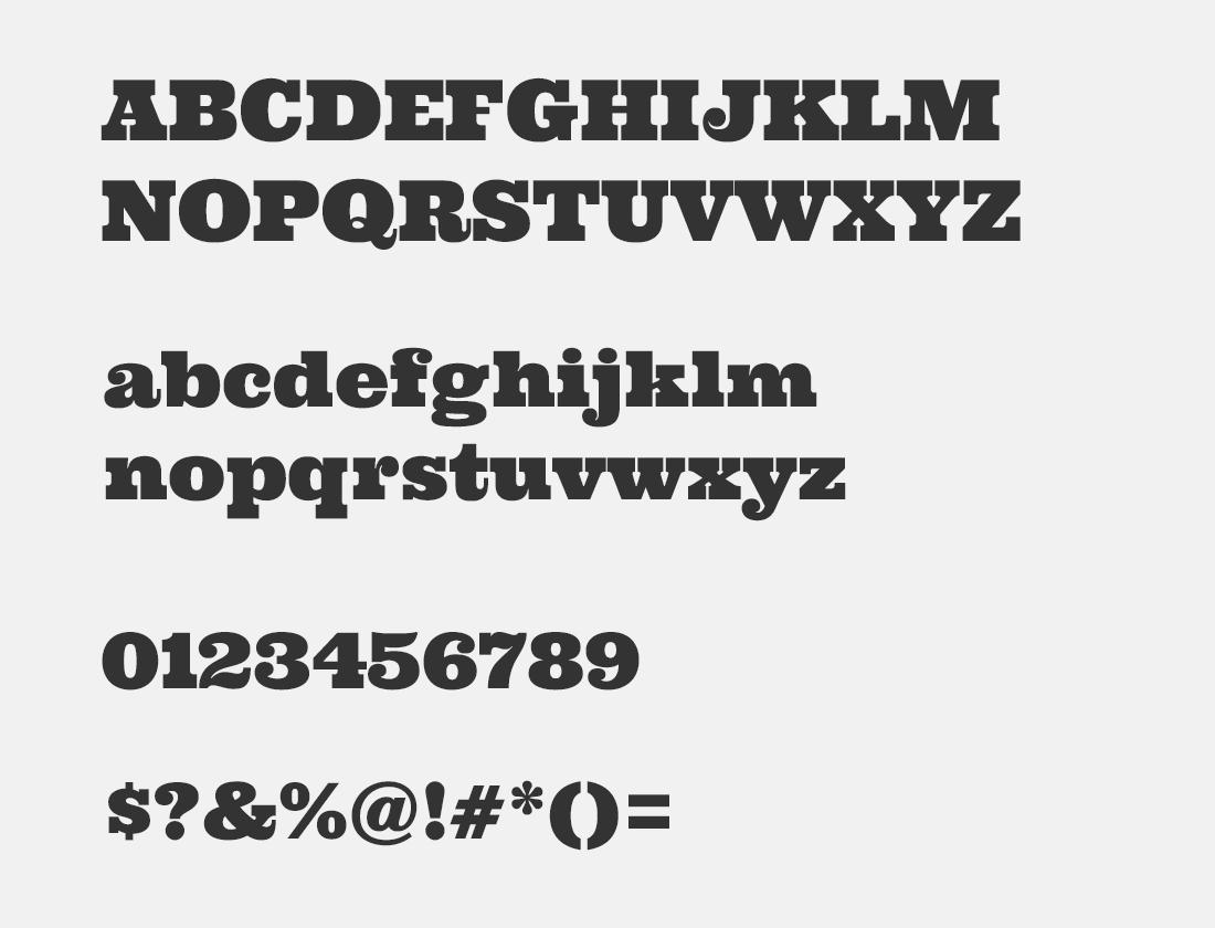 134 Ultra font