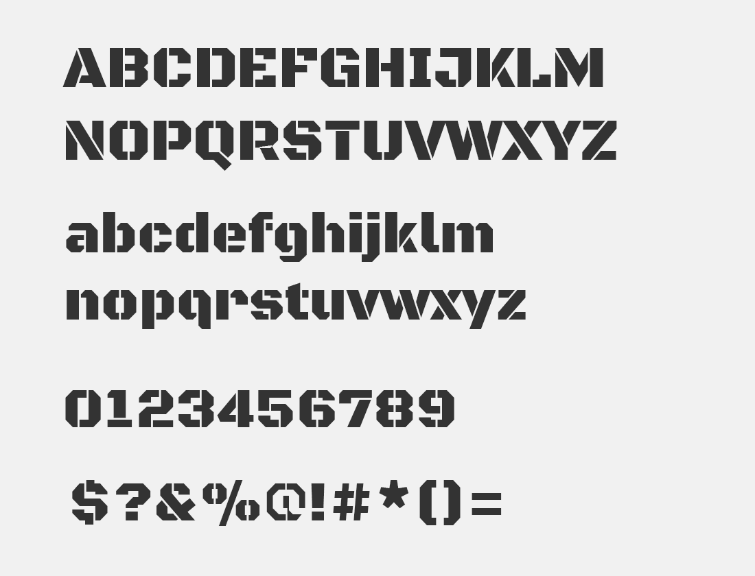 143 Black Ops One font