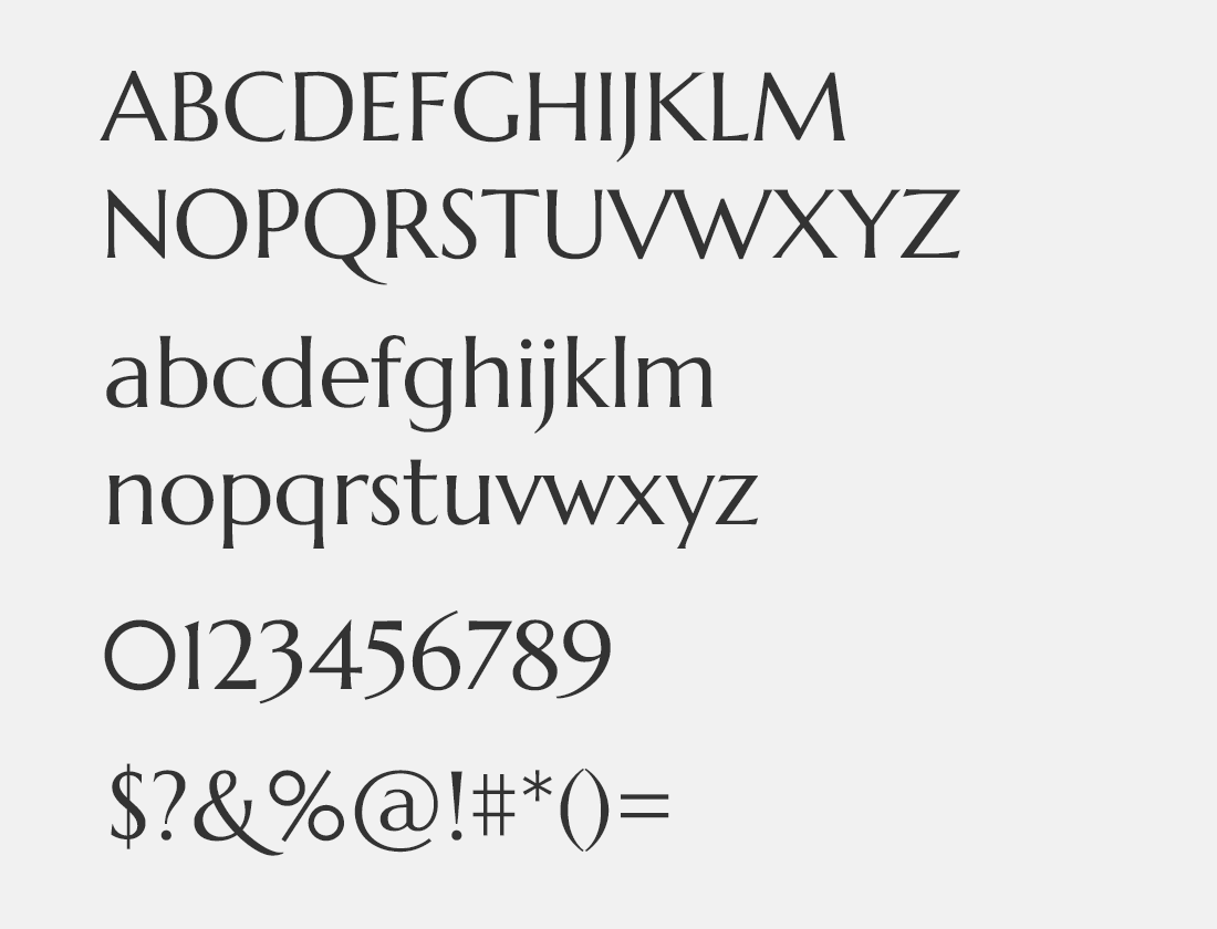 145 Marcellus font