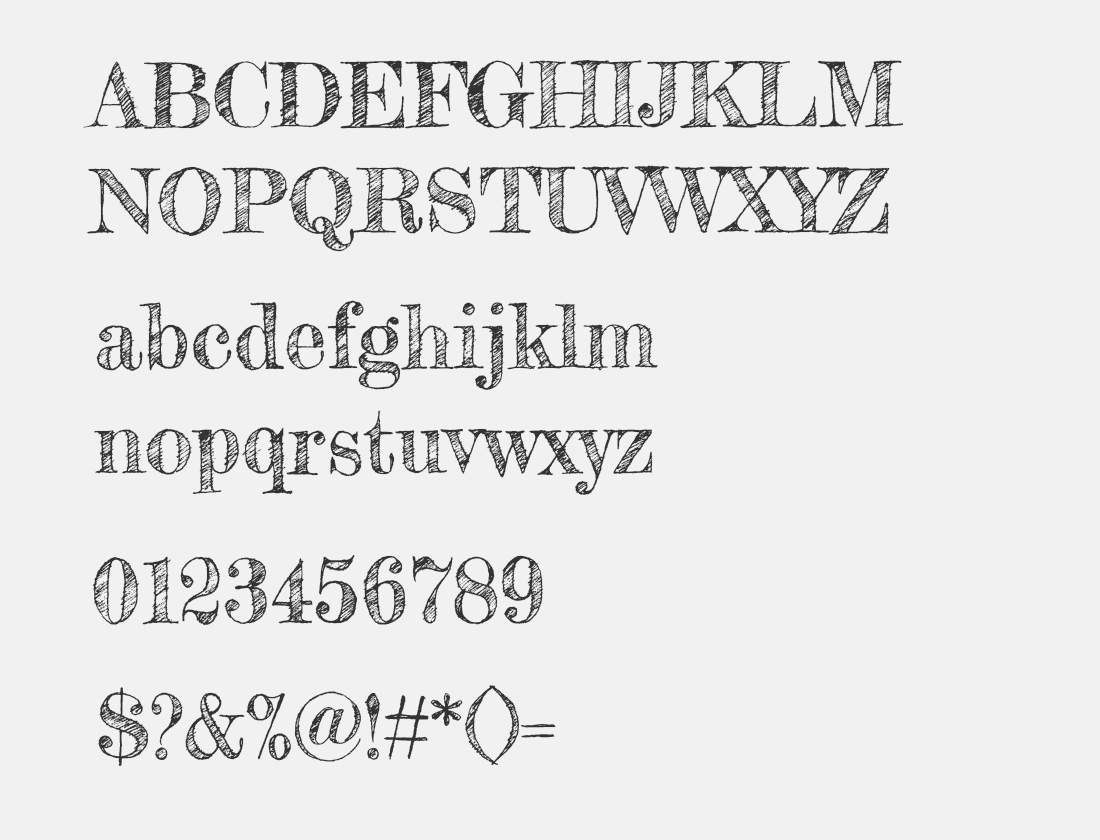 147 Fredericka the Great font