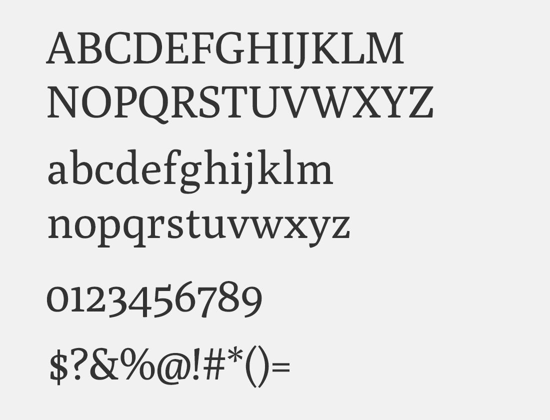165 Poly font