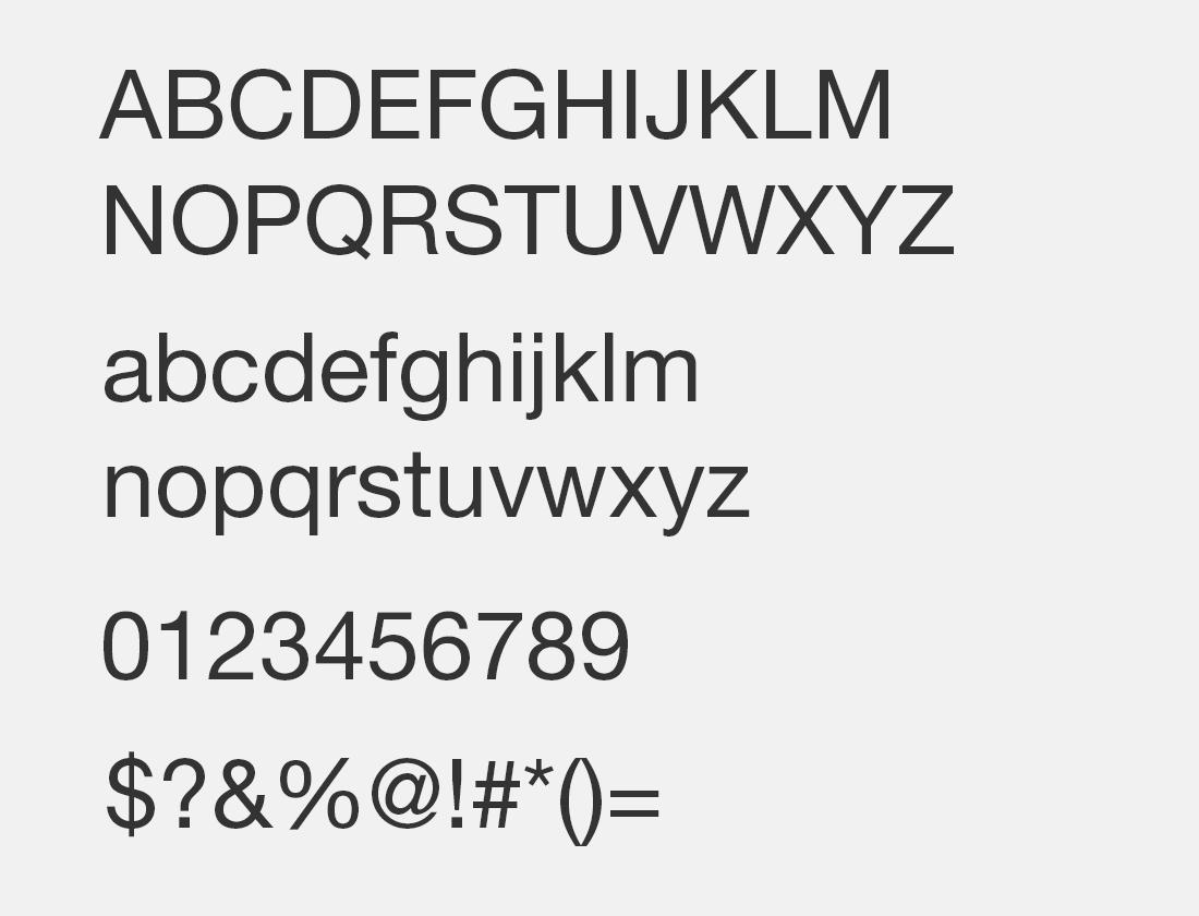 4 Helvetica neue interface