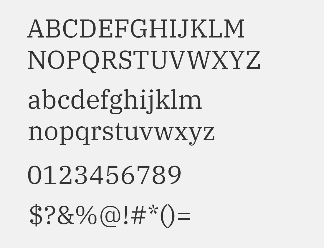 95 IBM Plex Serif font