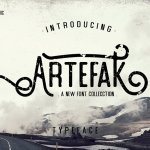 Artefak Vintage Display Font