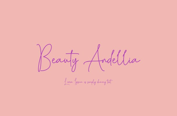 Beauty Andellia Handwritten Font