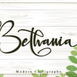 Bethania Modern Calligraphy Font
