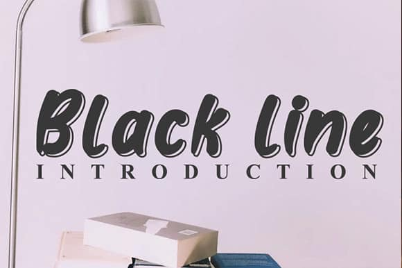 Black line Display Font-1