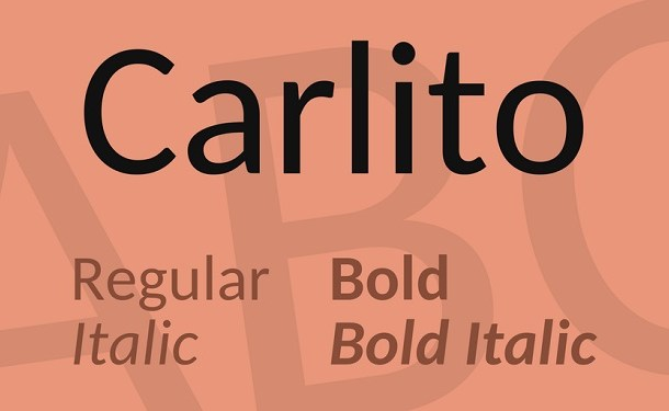 Carlito Sans Font Family