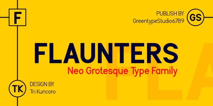 Flaunters Sans Serif Font-1