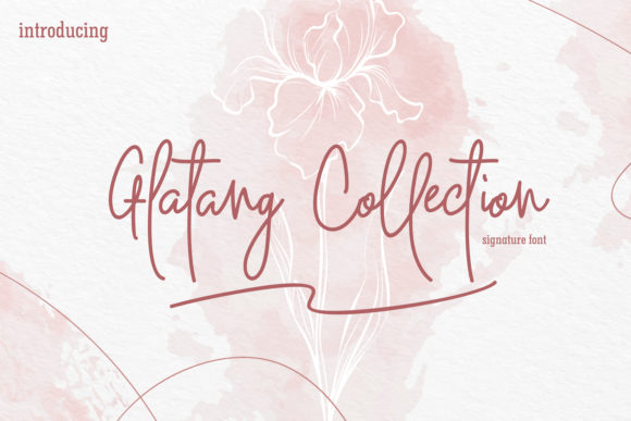 Glatang Collection Signature Font