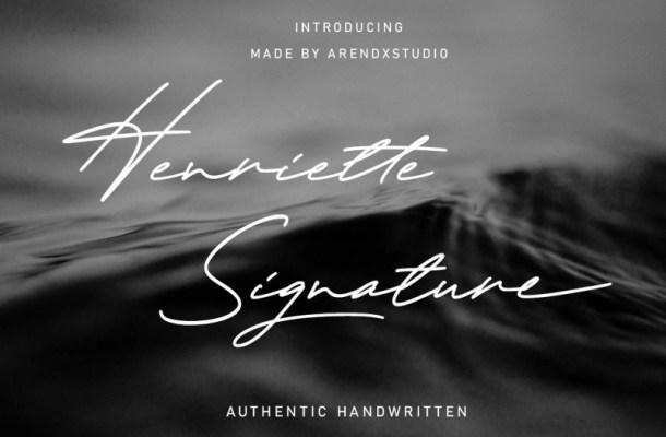 Henriette Signature Script Font