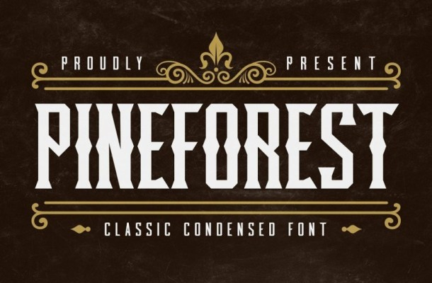 Pineforest - Classic Condensed Font-1