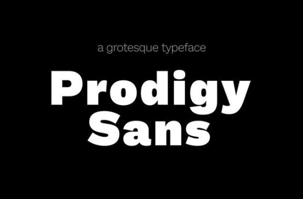 Prodigy Free Sans Font Family