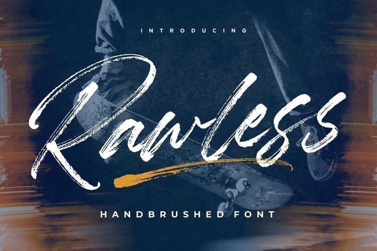 Rawless Brush Font-1