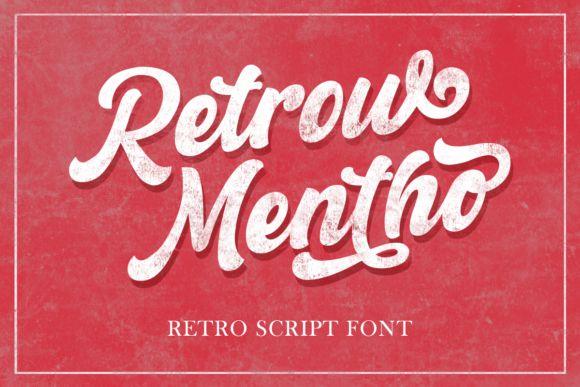 Retrow Mentho Retro Script Font