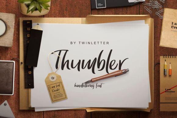 Thumbler Pen Brush Script Font