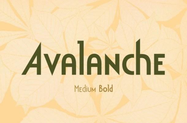 Avalanche Display Sans Font