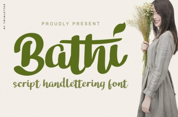 Bathi Bold Script Font