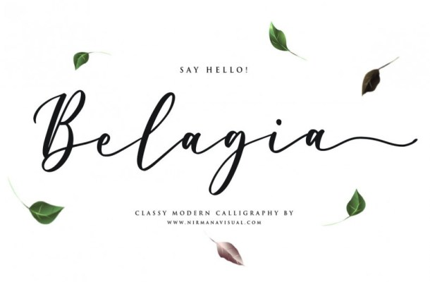 Belagia Classy Calligraphy Font