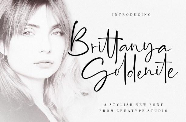 Brittanya Goldenite Handwritten Font