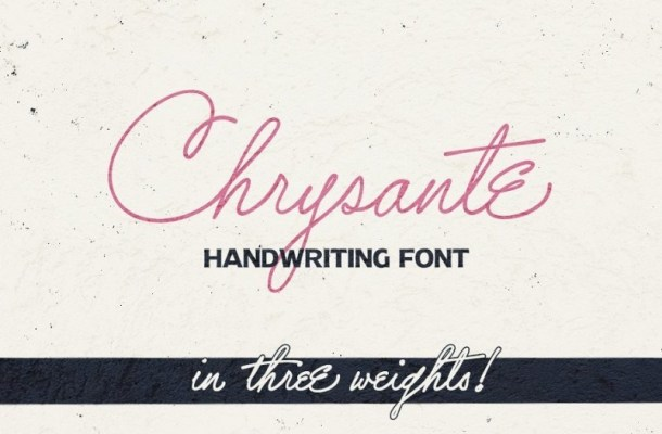 Chrysante Handwritten Signature Font