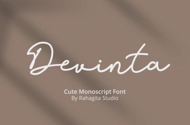 Devinta Handwritten Monoline Font