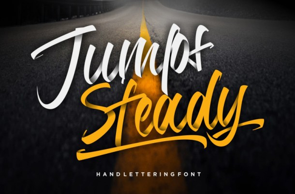 Jumps Steady Calligraphy Font