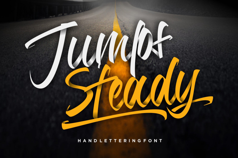 jumps-steady-calligraphy-font