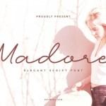 Madore Monoline Script Font