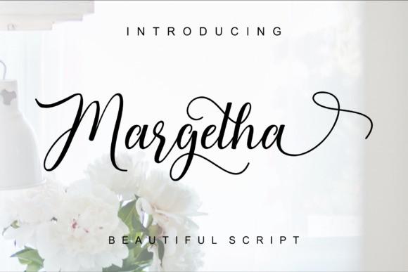 Margetha Calligraphy Font