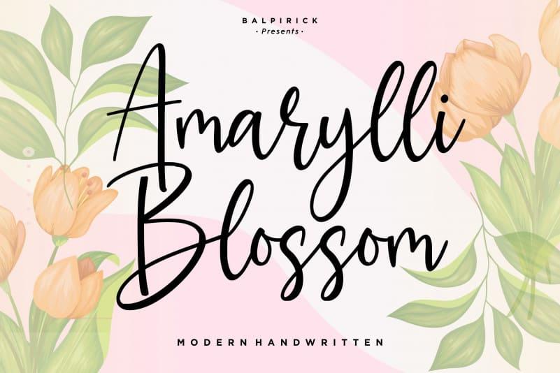 marylli Blossom Handwritten Font-1