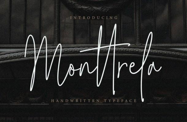Monttrela Handwritten Signature Font