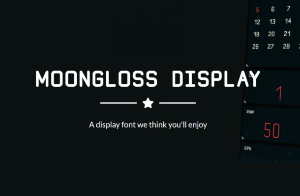 Moongloss Sans Font Family