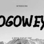 Ogowey Brush Display Font
