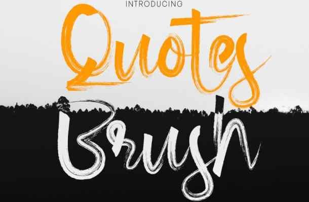 Quotes Brush Font