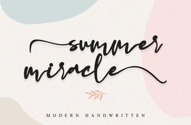 Summer Miracle Handwritten Font