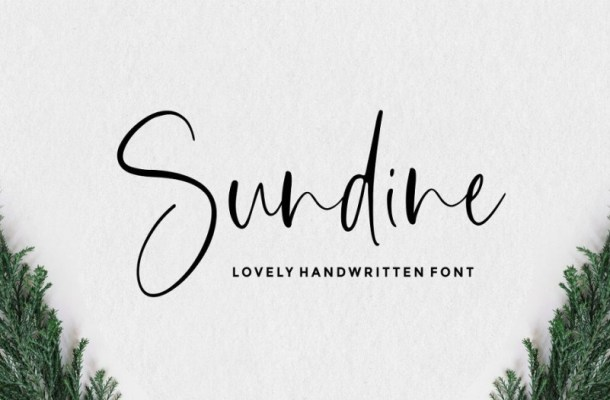 Sundine Lovely Handwritten Font