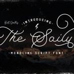 The Saily Monoline Script Font