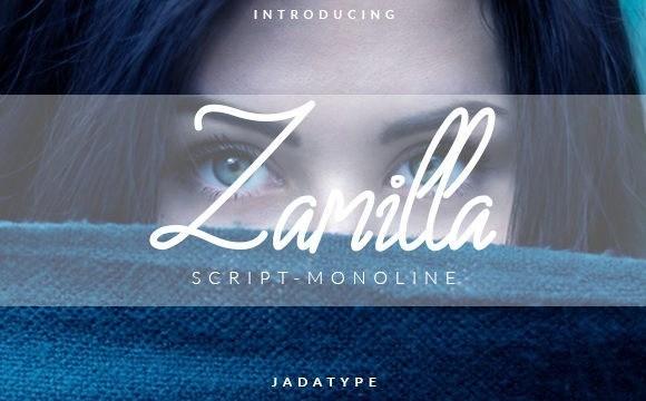 Zamilla Monoline Script Font