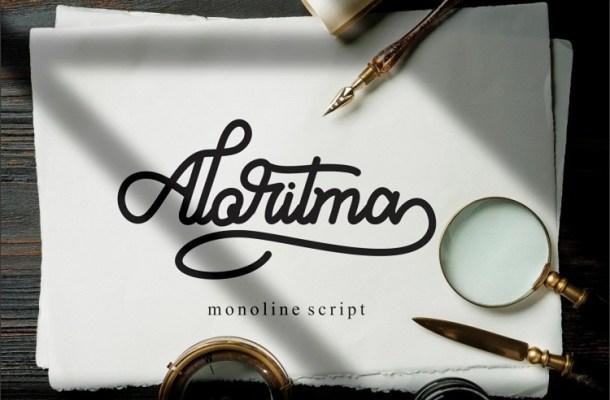 Aloritma Monoline Script Font-1