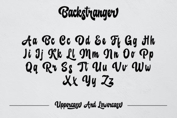 Backstranger Bold Script Font-3
