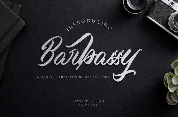 Barbassy Modern Handwritten Font