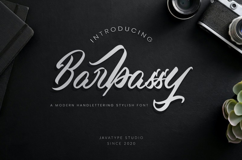 Barbassy Modern Handwritten Font-1