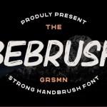 Bebrush Handbrush Font