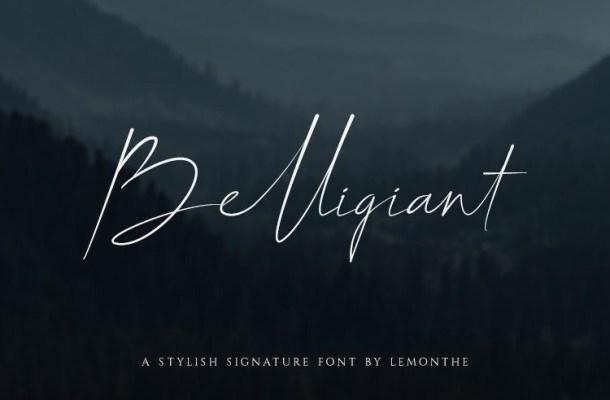 Belligiant Signature Font