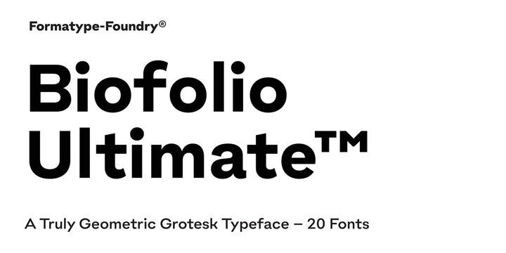 Biofolio Ultimate Sans Serif Font-1