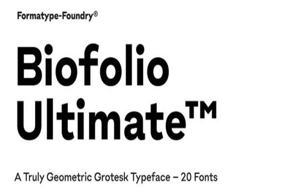 Biofolio Ultimate Sans Serif Font