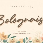 Bolognaise Handwritten Font