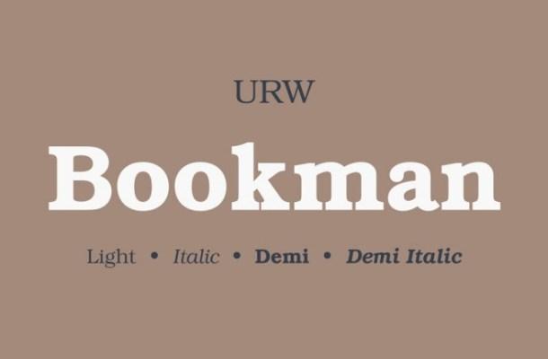 Bookman Slab Serif Font-1